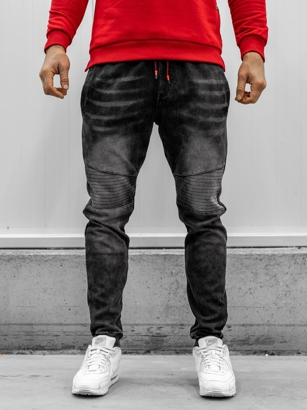 Men's Denim Joggers Black Bolf KK1065