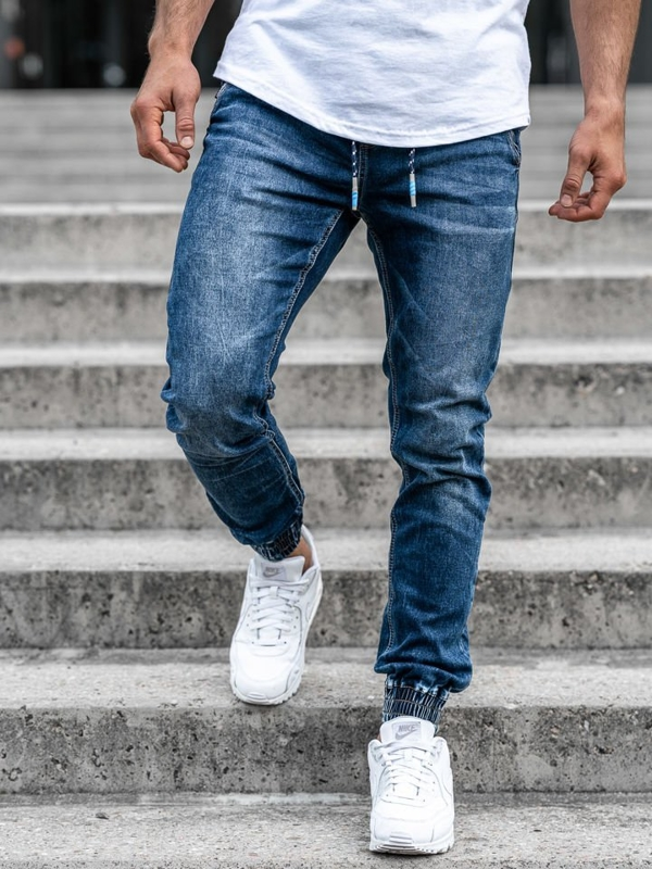 Men's Denim Joggers Navy Blue Bolf KA730