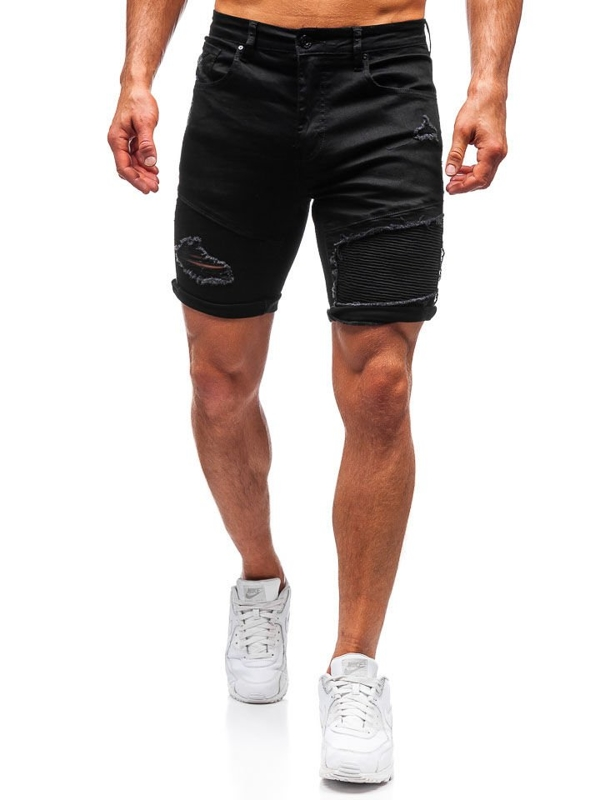 Men's Denim Shorts Black Bolf T390