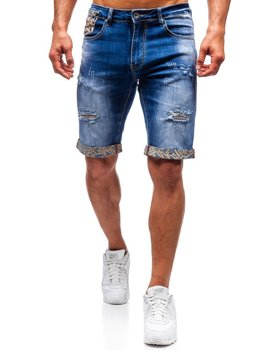 Men's Denim Shorts Blue Bolf T399