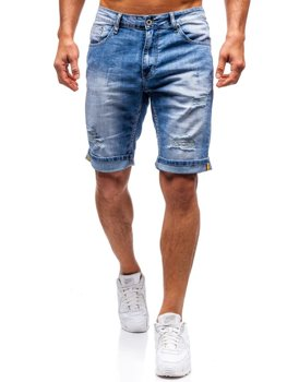 Men's Denim Shorts Blue Bolf T578