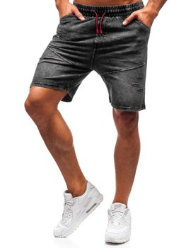 Men's Denim Shorts Graphite Bolf KK101