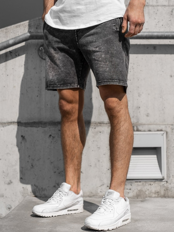Men's Denim Shorts Graphite Bolf KK106