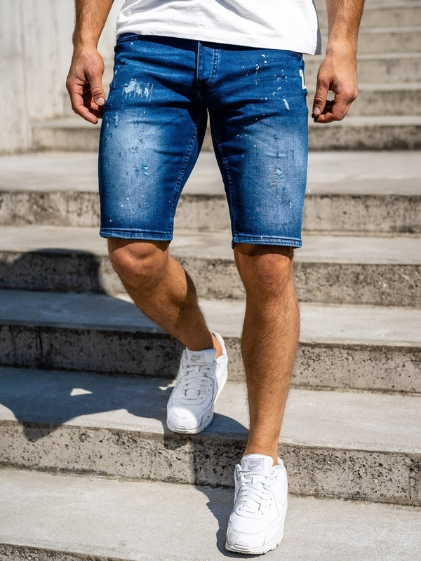 Men's Denim Shorts Navy Blue Bolf 3000