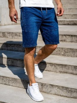 Men's Denim Shorts Navy Blue Bolf 5786