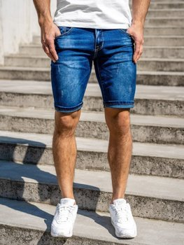 Men's Denim Shorts Navy Blue Bolf KG3768