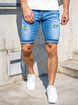 Men's Denim Shorts Navy Blue Bolf KG3810