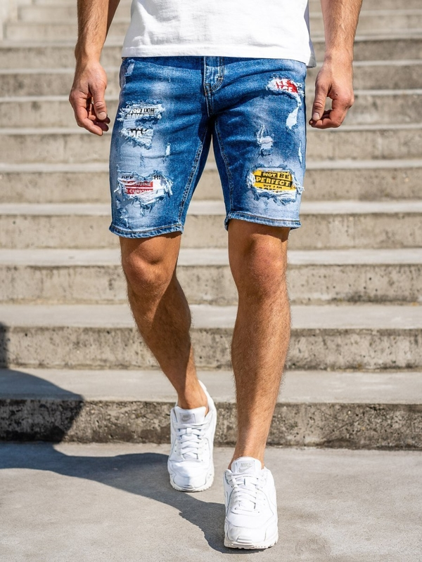 Men's Denim Shorts Navy Blue Bolf KG3873
