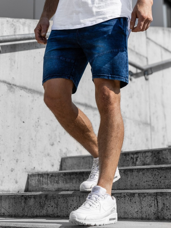 Men's Denim Shorts Navy Blue Bolf KK108