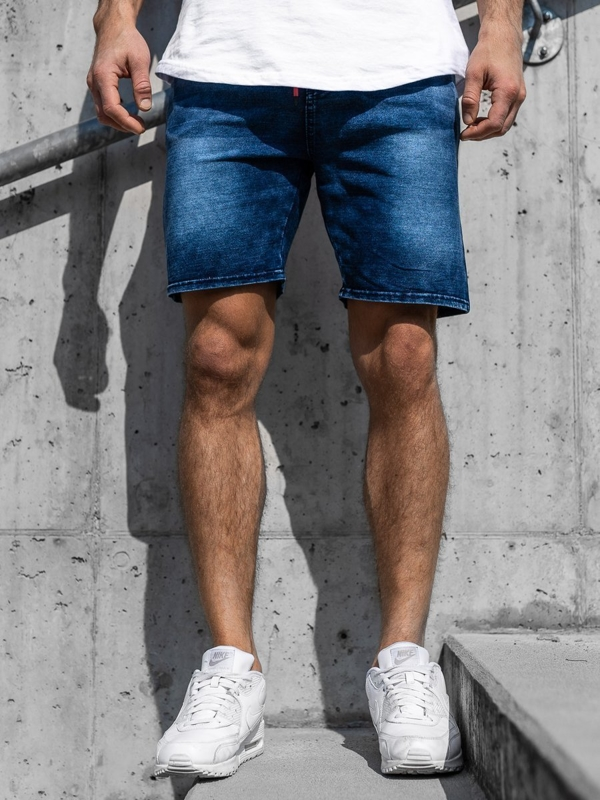 Men's Denim Shorts Navy Blue Bolf KK109