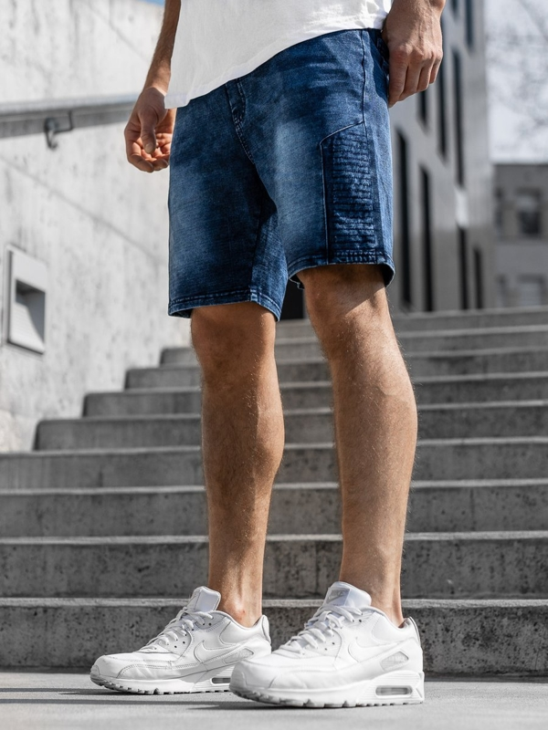 Men's Denim Shorts Navy Blue Bolf KK110