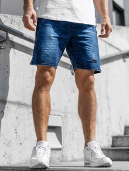 Men's Denim Shorts Navy Blue Bolf KK111