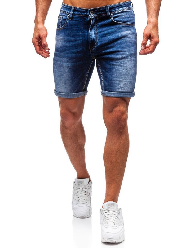 Men's Denim Shorts Navy Blue Bolf T573