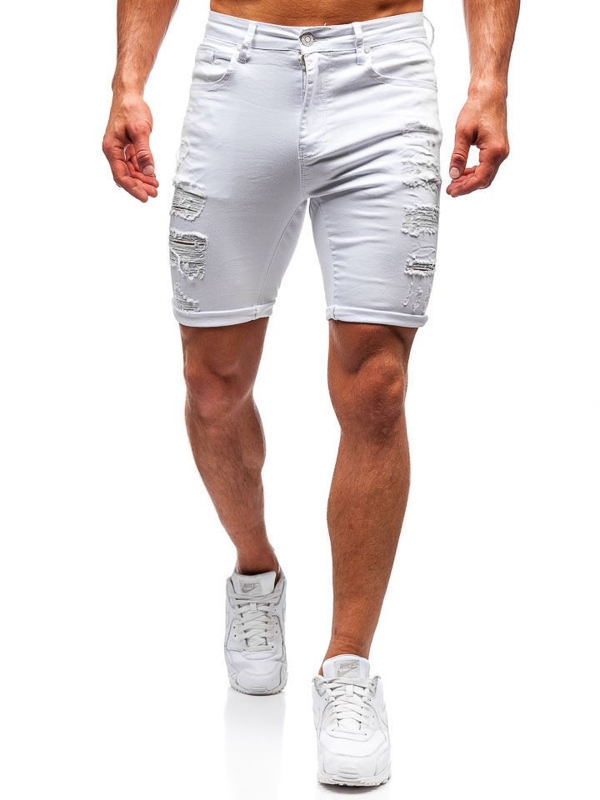 Men's Denim Shorts White Bolf T392