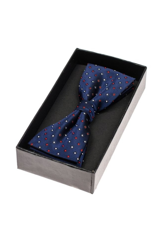 Men's Elegant Bow Tie Navy Blue Bolf M035-A