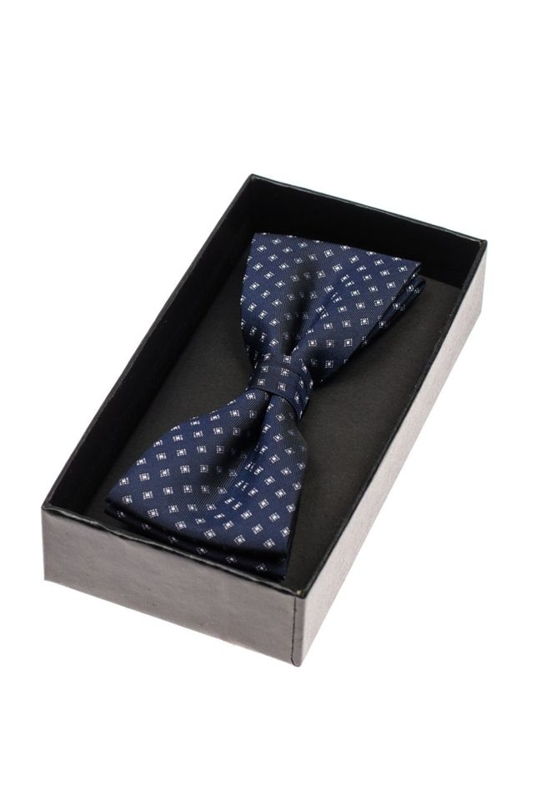 Men's Elegant Bow Tie Navy Blue Bolf M038