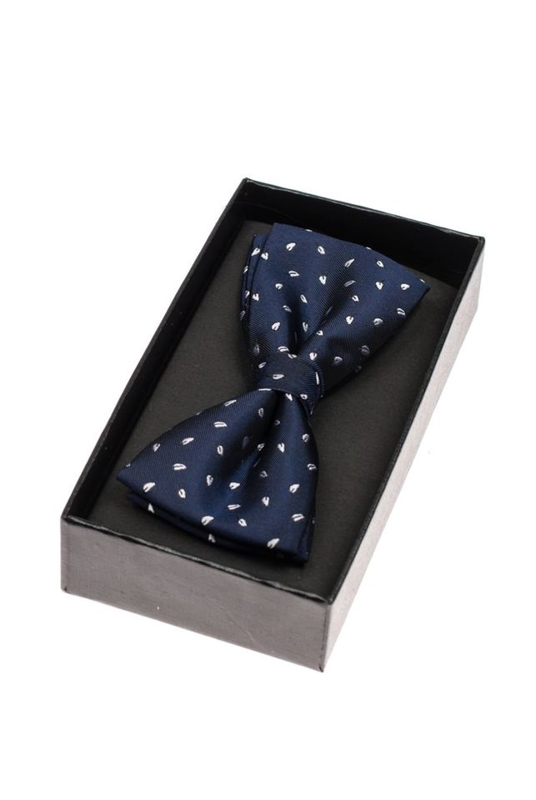 Men's Elegant Bow Tie Navy Blue Bolf M040