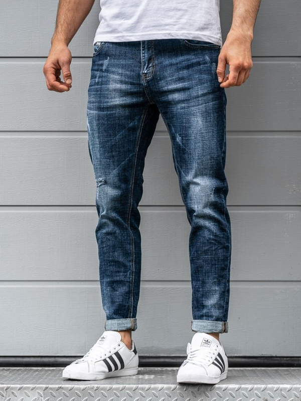 Men's Jeans Relaxed Fit Navy Blue Bolf KX263