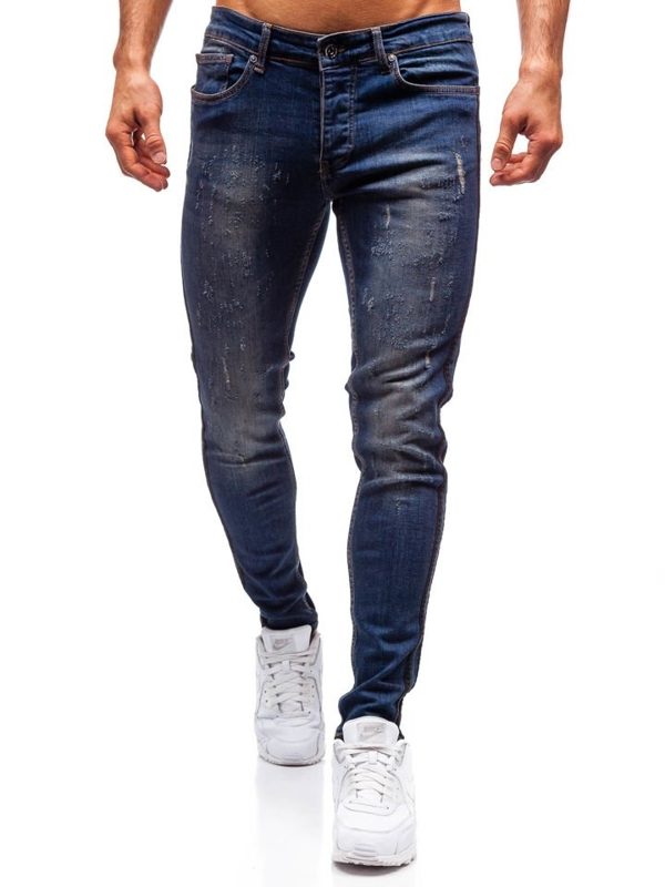 Men's Jeans Slim Fit Navy Blue Bolf 1014