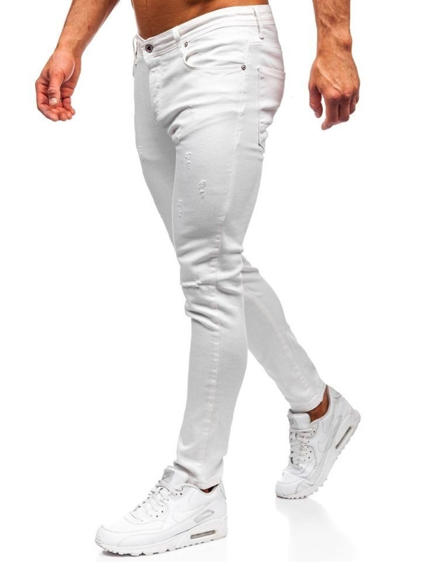 Men's Jeans Slim Fit White Bolf 55118