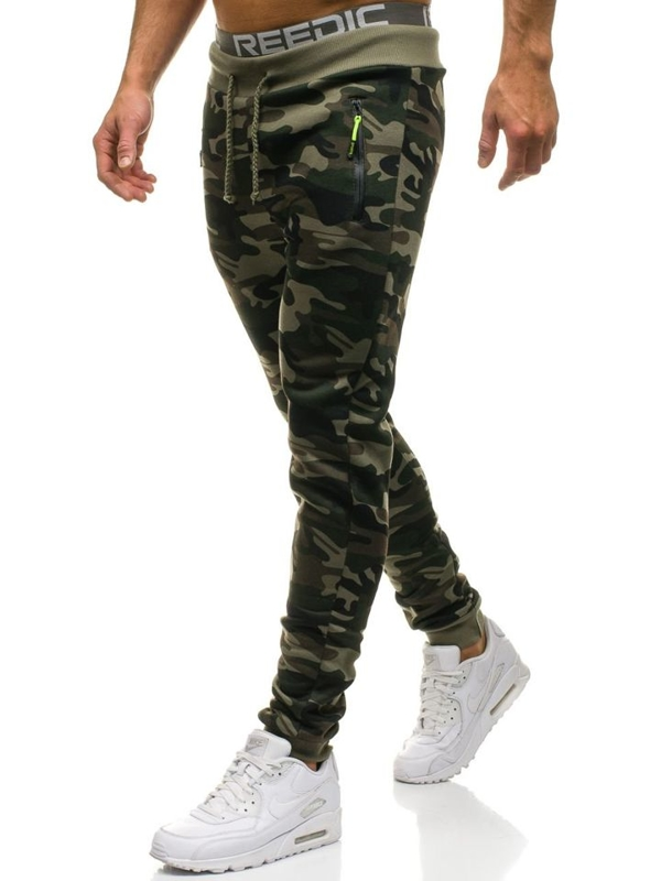 Men's Jogger Sweatpants Camo-Green Bolf JX8121