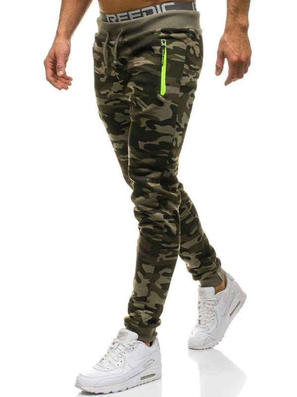 Men's Jogger Sweatpants Camo-Green Bolf JX8125