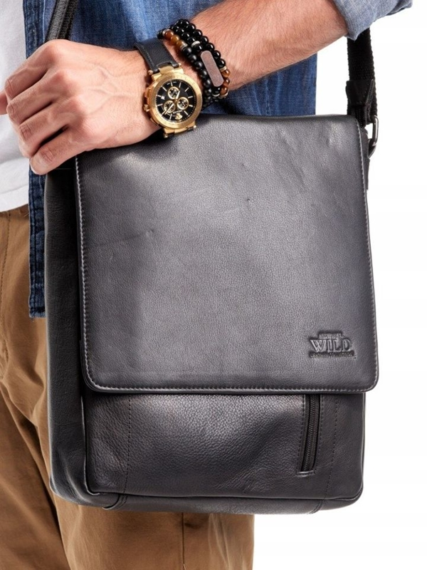 Men's Leather Bag Black 3011