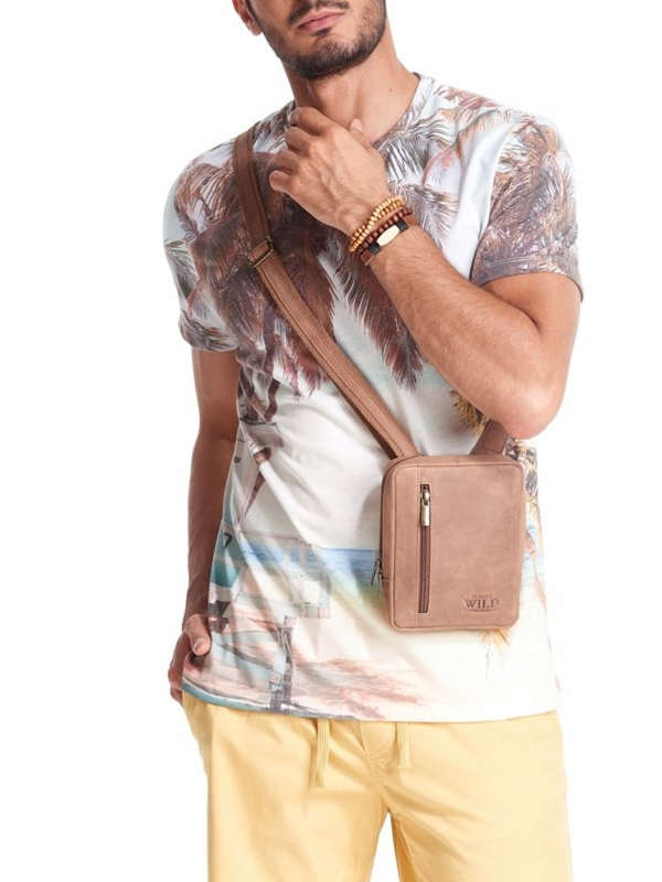 Men's Leather Bag Light Brown 2502