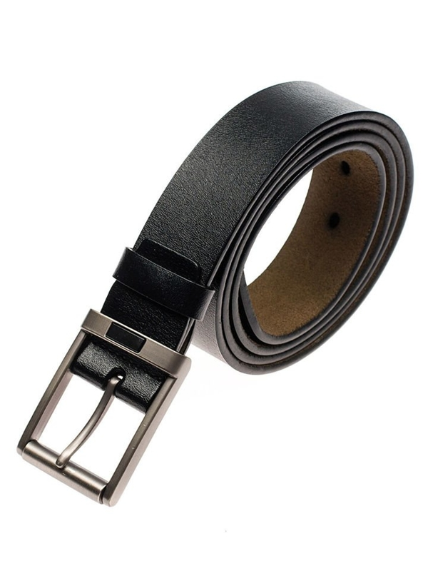 Men's Leather Belt Black Bolf P008-A