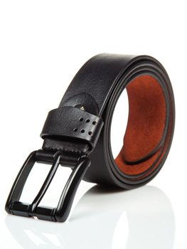 Men's Leather Belt Black Bolf P011