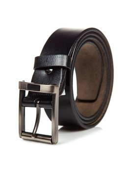 Men's Leather Belt Black Bolf P014