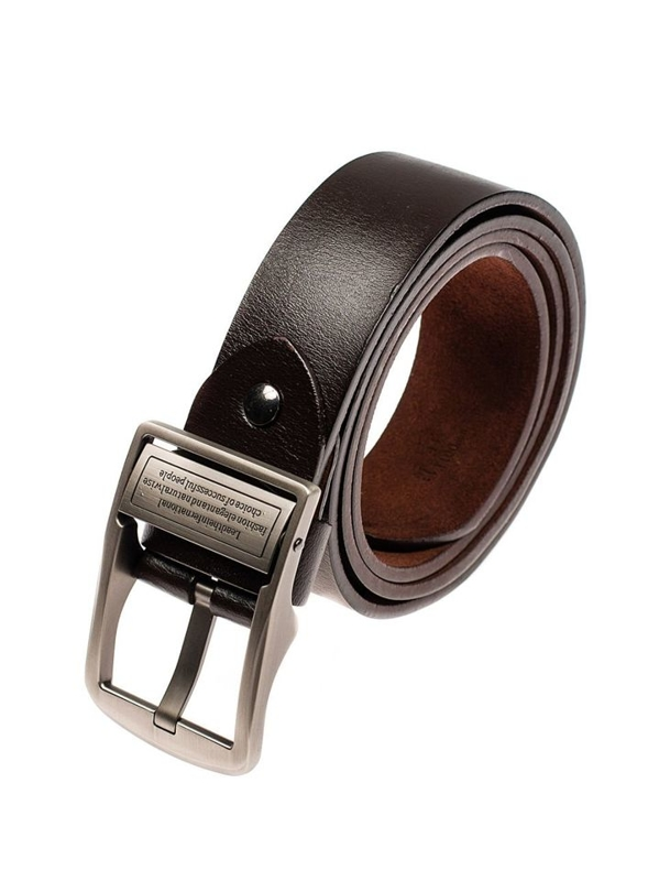 Men's Leather Belt Brown Bolf P007-A