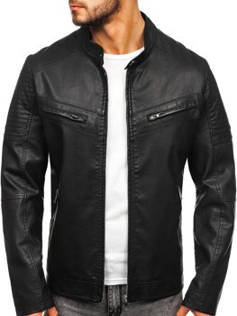 Men's Leather Jacket Black Bolf 1125