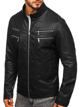 Men's Leather Jacket Black Bolf 1126