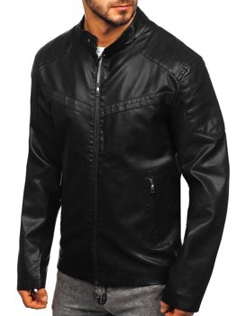 Men's Leather Jacket Black Bolf 1128