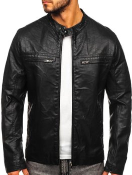 Men's Leather Jacket Black Bolf 1130