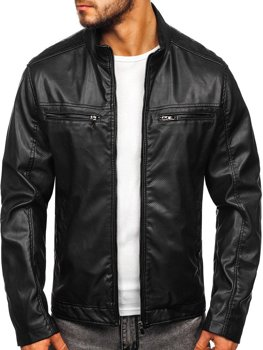 Men's Leather Jacket Black Bolf 1131