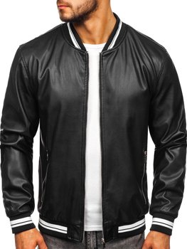 Men's Leather Jacket Black Bolf 1132