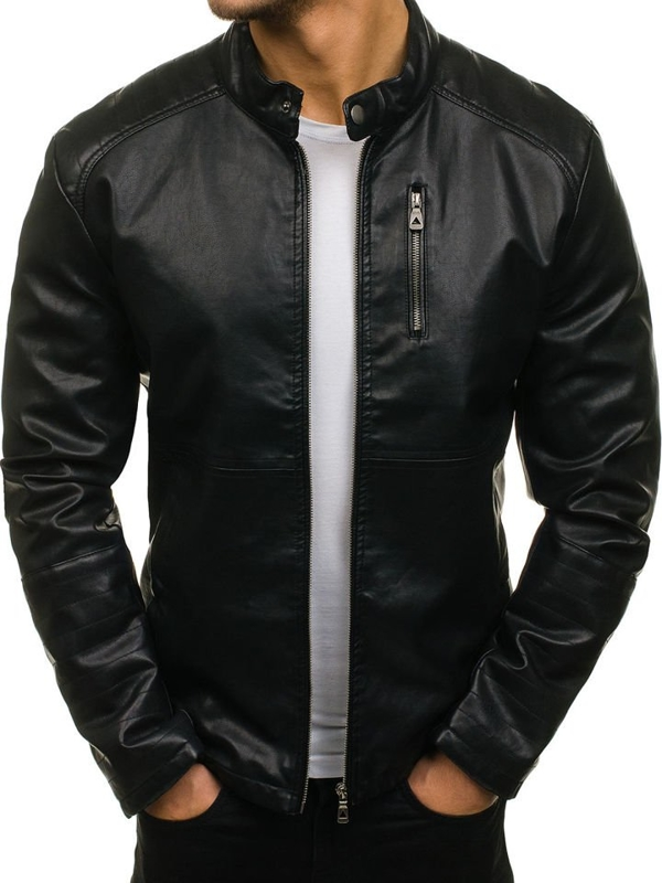 Men's Leather Jacket Black Bolf 5009