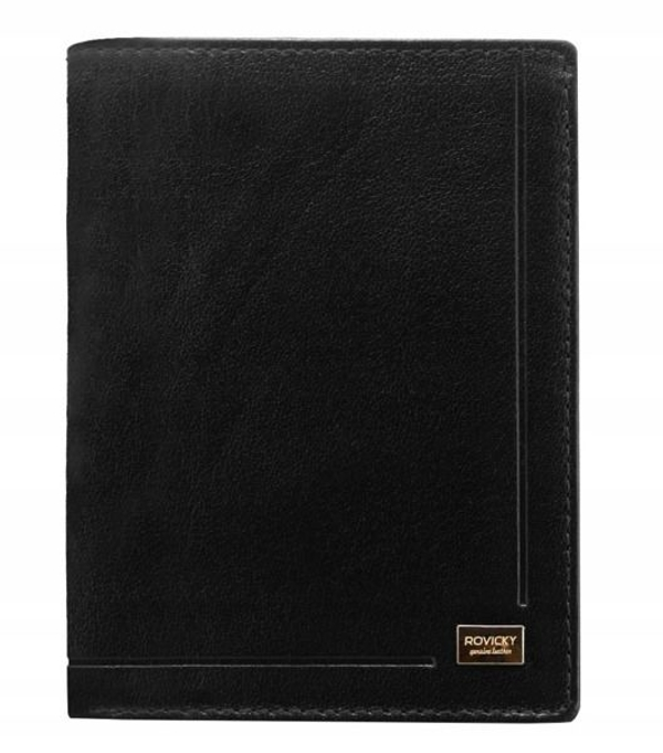 Men's Leather Wallet Black 190
