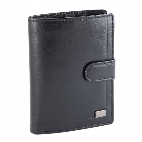 Men's Leather Wallet Black 194
