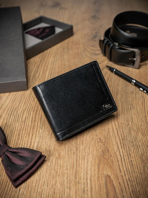 Men's Leather Wallet Black 200
