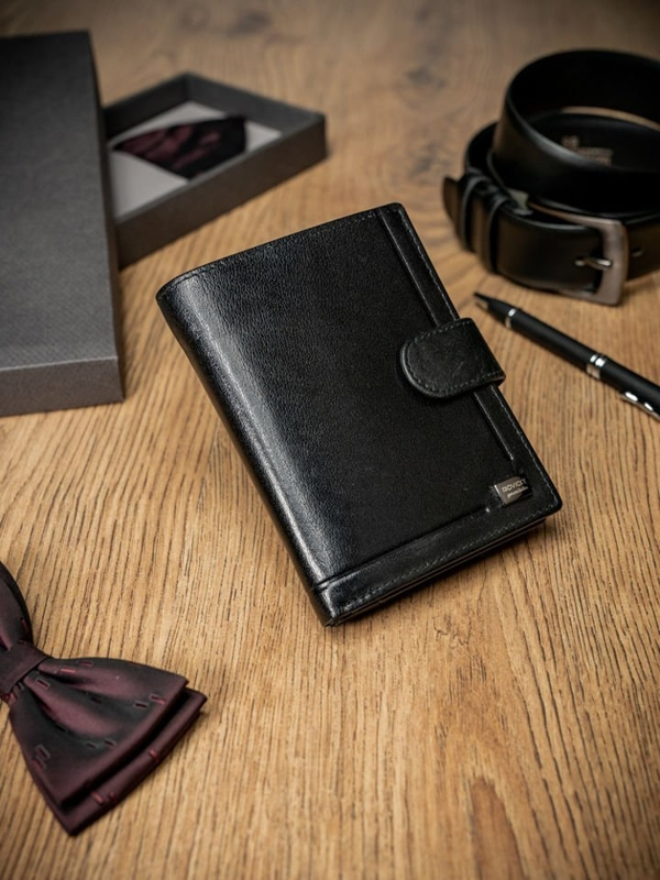 Men's Leather Wallet Black 212