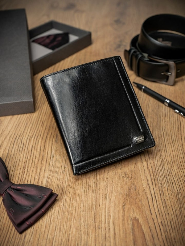 Men's Leather Wallet Black 234