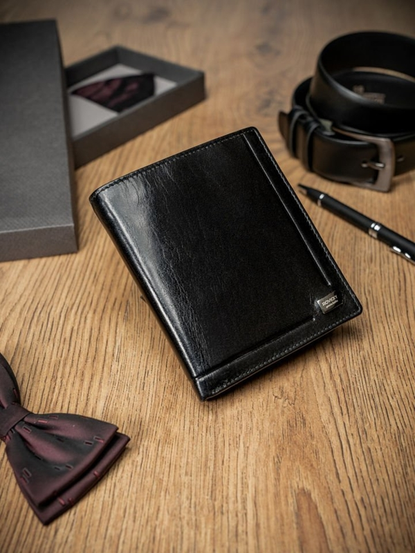 Men's Leather Wallet Black 238