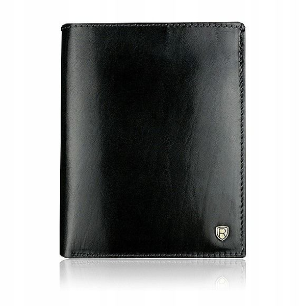 Men's Leather Wallet Black 910