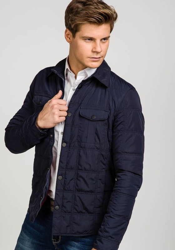 Men's Lightweight Elegant Jacket Navy Blue Bolf 1605