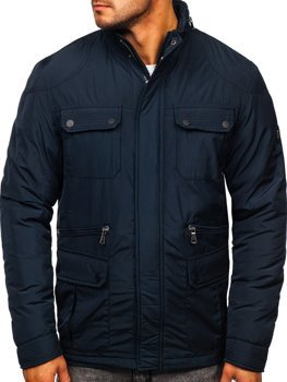 Men's Lightweight Elegant Jacket Navy Blue Bolf 1668