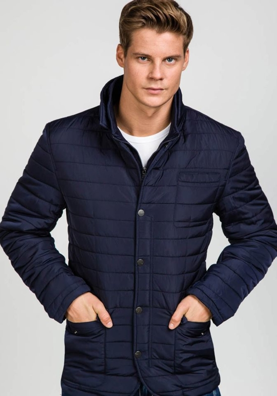 Men's Lightweight Elegant Jacket Navy Blue Bolf 1676