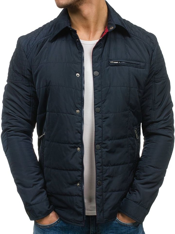 Men's Lightweight Elegant Jacket Navy Blue Bolf 1721